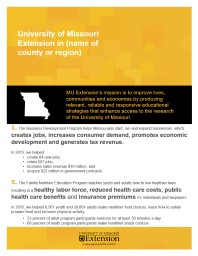 1.  The  Business Development Program helps Missourians start, run and expand businesses,