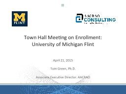 Town Hall Meeting on Enrollment: