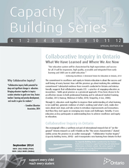 Capacity Building Series SPECIAL EDITION      Why Coll