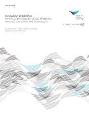 WHITE PAPER Innovation Leadership How to use innovatio