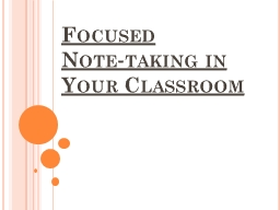 Focused   Note‐taking