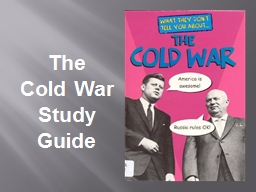 The  Cold War Study Guide PowerPoint PPT Presentation