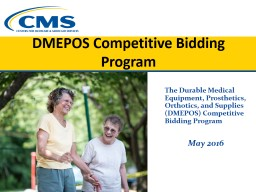 DMEPOS Competitive Bidding Program