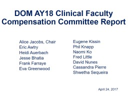 DOM  AY18  Clinical Faculty Compensation Committee Report