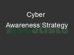 Cyber Awareness Strategy