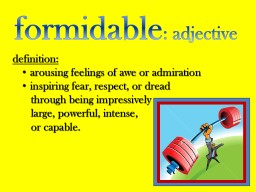 formidable : adjective definition
