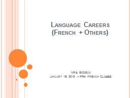 Language Careers  (French   Others)