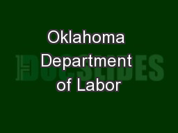 Oklahoma Department of Labor