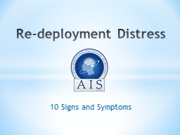 10 Signs and Symptoms Re-deployment Distress