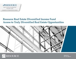 Resource Real Estate Diversified Income Fund