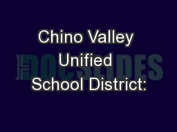 Chino Valley Unified School District:
