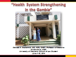 """Health System Strengthening"
