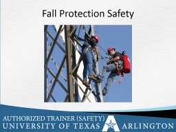 Fall Protection Safety Objectives