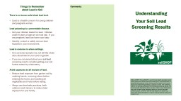 Things to Remember about Lead in Soil PowerPoint PPT Presentation