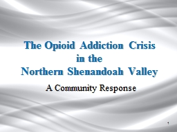 The Opioid Addiction Crisis