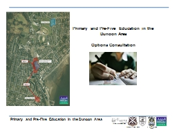 Primary and Pre-Five Education in the Dunoon Area