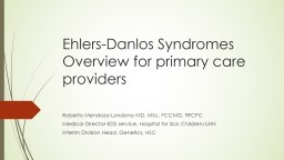 Ehlers  Danlos  Syndromes & Chronic Pain Learning