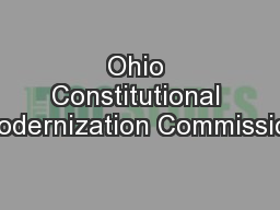 Ohio Constitutional Modernization Commission