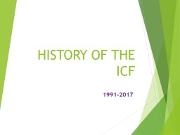 HISTORY OF THE ICF 1991-2017 PowerPoint PPT Presentation