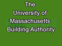 The University of Massachusetts Building Authority