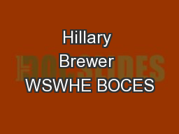 Hillary Brewer WSWHE BOCES