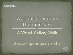 A Visual Gallery Walk Answer questions 1 and 2