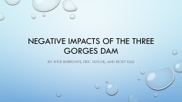 Negative impacts of the Three Gorges Dam