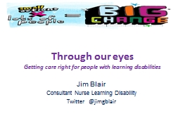 Through our eyes Getting care right for people with learning disabilities