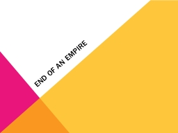 End of an Empire Problems in the empire PowerPoint PPT Presentation