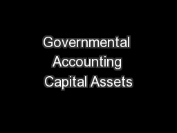 Governmental Accounting Capital Assets