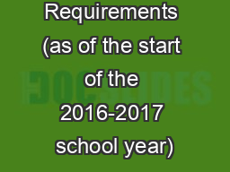 Graduation Requirements (as of the start of the 2016-2017 school year)