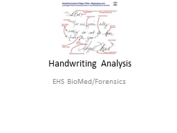 Handwriting Analysis EHS