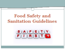 Food Safety and Sanitation Guidelines