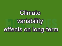 Climate variability effects on long-term