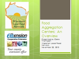 Food Aggregation Centers: An Overview PowerPoint PPT Presentation