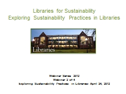 Libraries for Sustainability