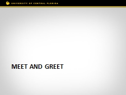 Meet and Greet Welcome and Meeting Guidelines