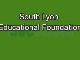 South Lyon Educational Foundation