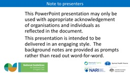 This PowerPoint presentation may only be used with appropriate acknowledgement of organisations and