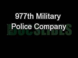 977th Military Police Company