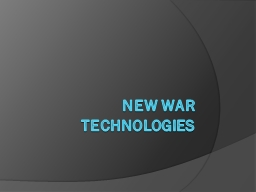 New War Technologies Airplanes