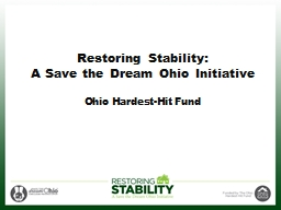Restoring Stability:  A Save the Dream Ohio Initiative