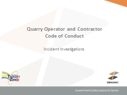 Quarry  Operator and Contractor