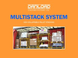 Multistack System  HGV COLLAPSIBLE PALLET STACKING
