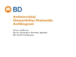 Antimicrobial Stewardship/Statewide PowerPoint PPT Presentation