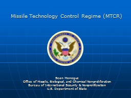 Missile Technology Control Regime PowerPoint PPT Presentation