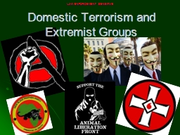 Domestic Terrorism and Extremist Groups