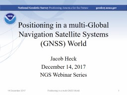 Positioning in a multi-Global Navigation Satellite