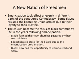 A New Nation of Freedmen