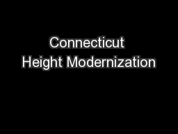 Connecticut Height Modernization